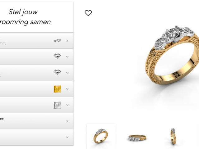 personaliseren van een diamanten ring