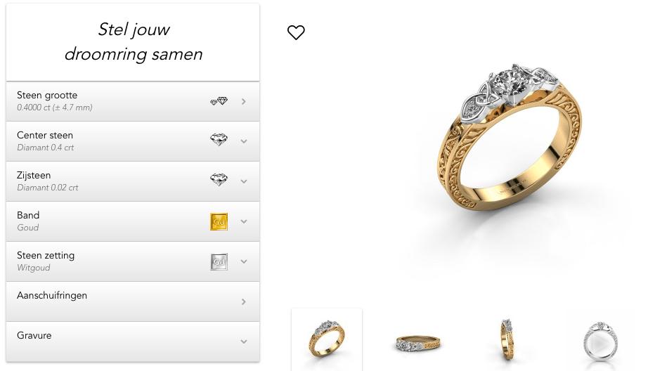 personaliseren van een diamanten ring