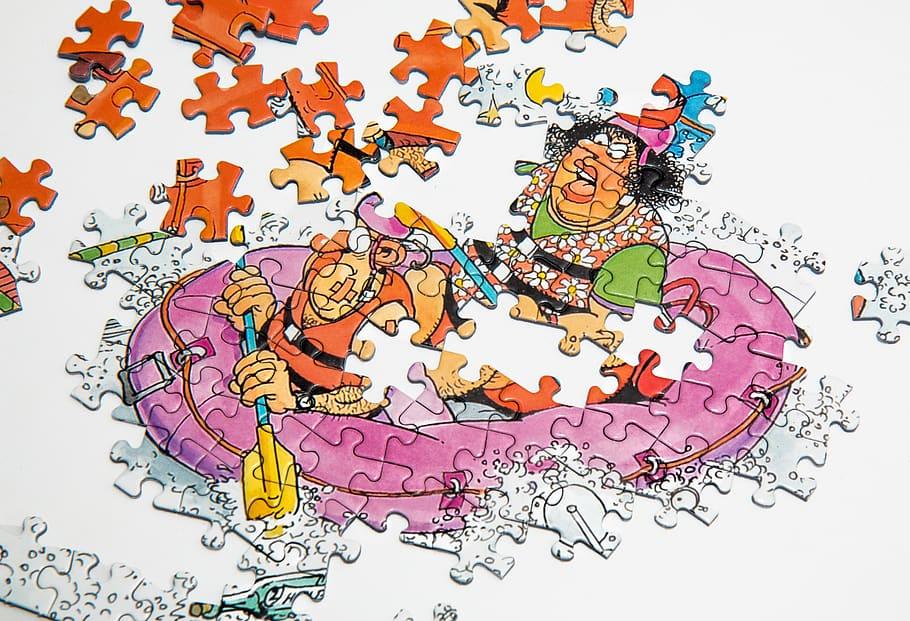 ouderwets puzzelen